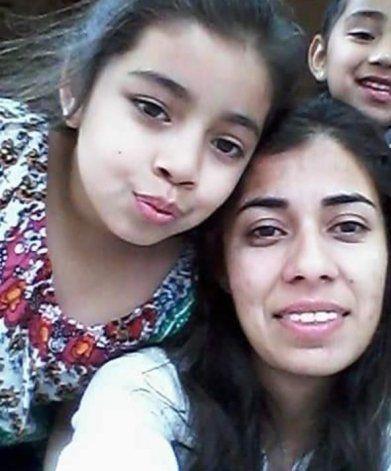 Romina Lazcano y su hija Loana, dos de las víctimas del fatal accidente.