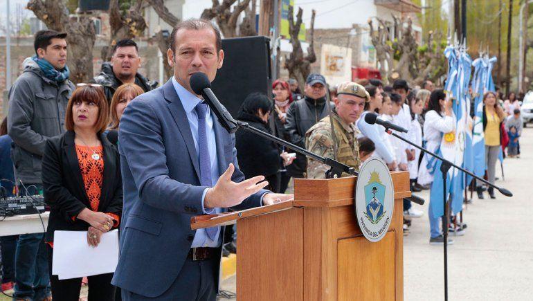 Gutiérrez asistió a los festejos por el 78º aniversario de Mariano Moreno