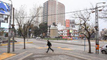 El clima no ayudó en el Día del Padre y la ciudad se vio vacía