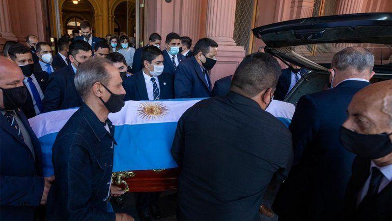 Maradona fue velado en Casa Rosada.