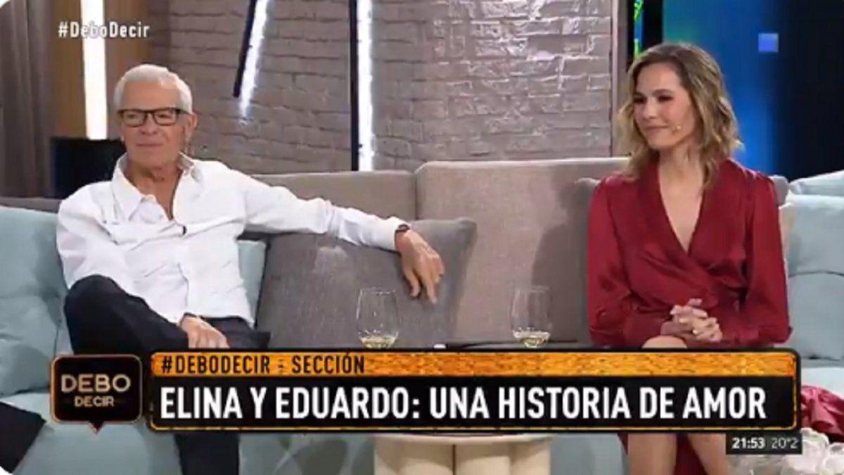 Elina y Eduardo Costantini en Debo Decir: Nos tocamos, somos empalagosos