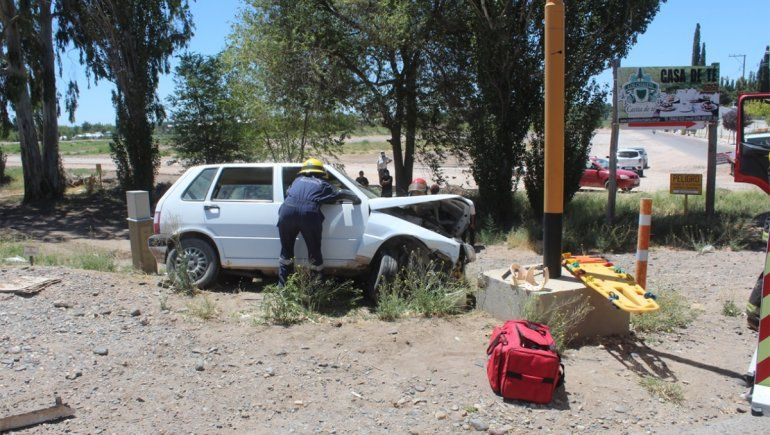 Tres heridos en un choque sobre la Ruta 7 en Centenario