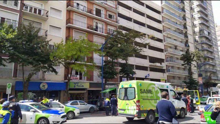 Mar del Plata:  abuela murió en el incendio de un edificio