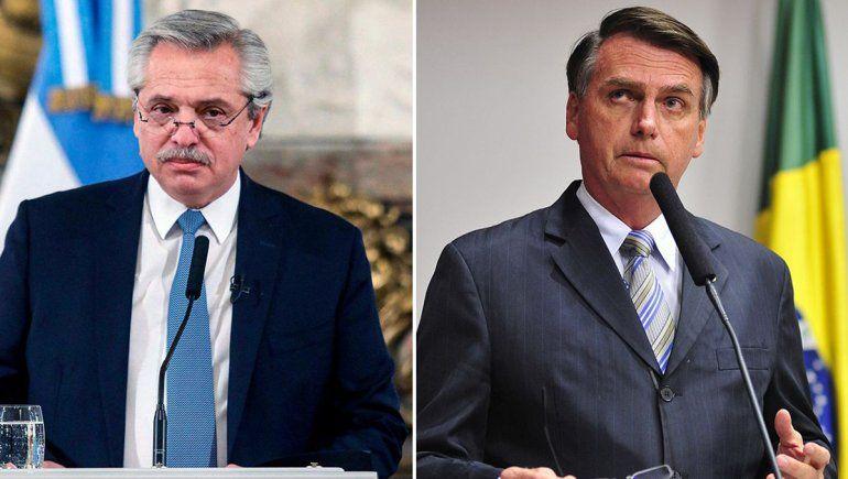Por primera vez, Fernández charlará con Jair Bolsonaro