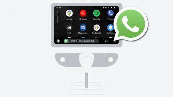 nuevas mejoras para whatsapp en android auto