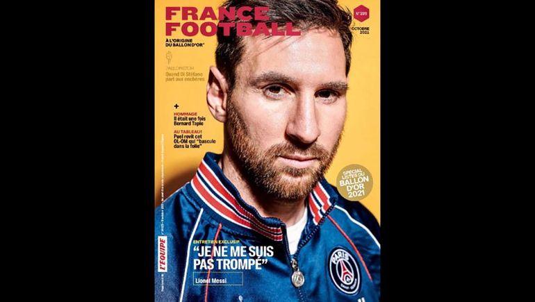 Lionel Messi en la portada de France Football.