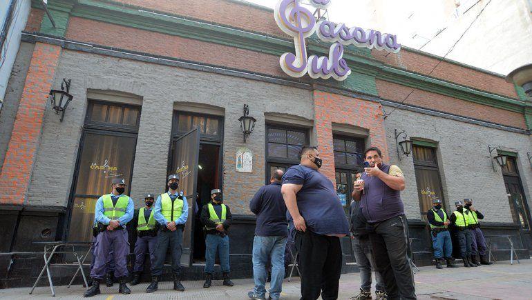 Policía acordonó el boliche La Casona a horas del simulacro