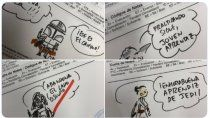 un profesor es viral por corregir con dibujos de star wars