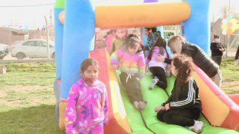 Los niños de la zona norte tuvieron su festejo en el Distrito Vecinal.