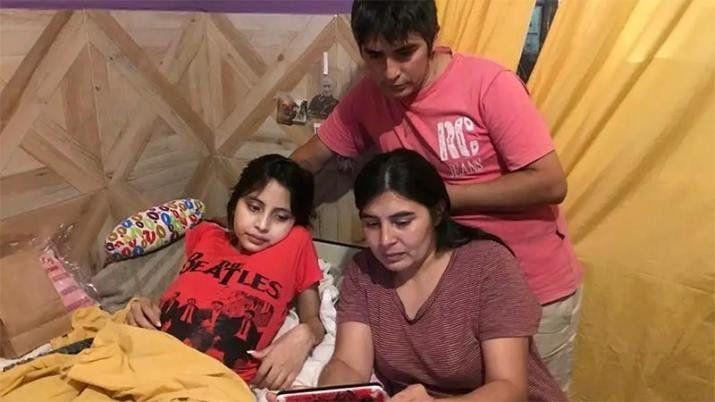 Abigail, la niña que conmovió al país, llegará este martes al mediodía al Hospital Austral de Buenos Aires.