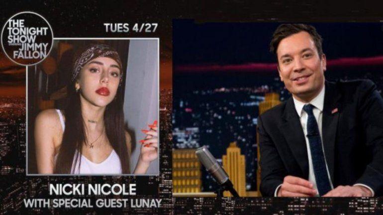 Nicki Nicole será la primera argentina en actuar en el show de Jimmy Fallon