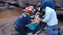 rescate por tierra y agua: un paseo familiar casi termina en tragedia