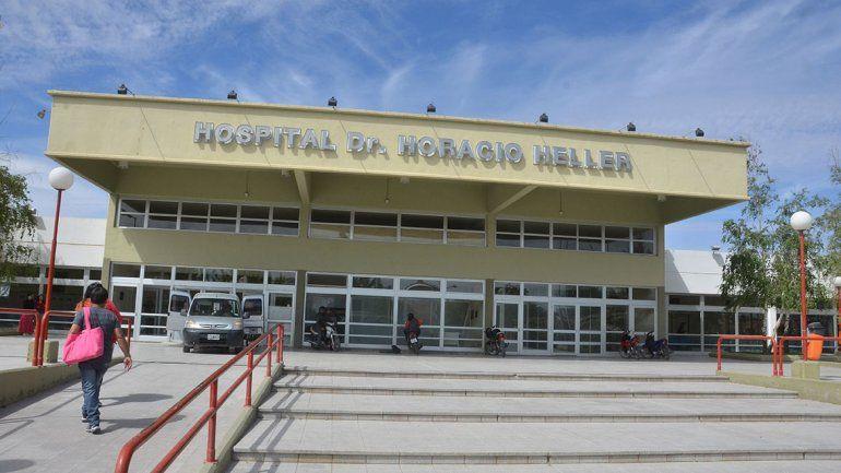 La joven fue asistida en el hospital Heller