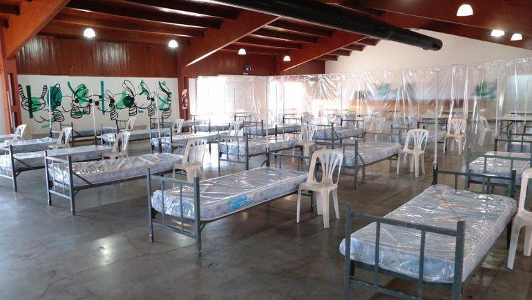 El espacio DUAM por dent5ro, antes de que comenzara la ocupación de las camas.