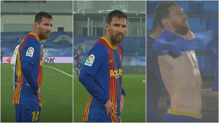 Captaron a Messi temblando de frío en el derbi y llueven los memes