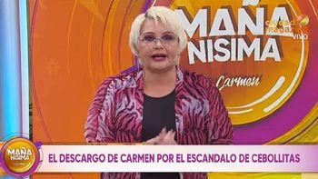 Carmen Barbieri pidió perdón por la discusión de Cebollitas