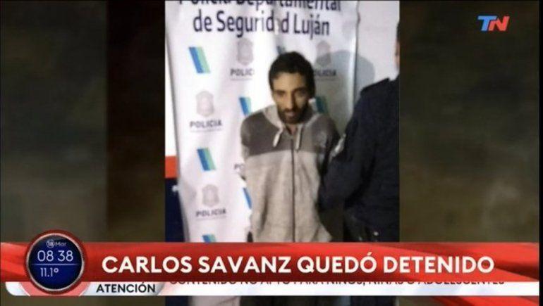 Carlos Savanz quedó detenido.