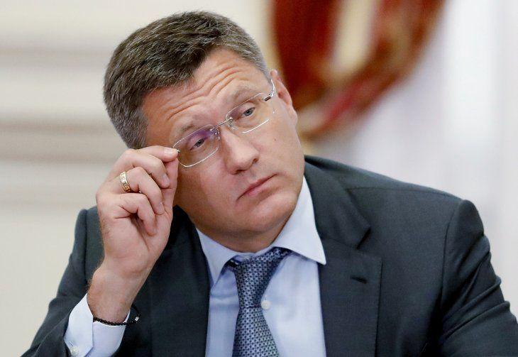 Imagen de archivo del ministro de Energía de Rusia, Alexander Novak, durante una reunión encabezada por el primer ministro Dmitry Medvedev en Astracán, Rusia. 30 de agosto, 2019. Sputnik/Dmitry