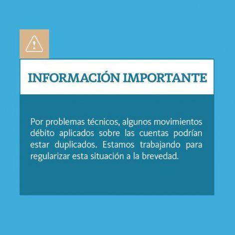 El Banco Nación aseguró que en este lunes estará solucionado el problema.