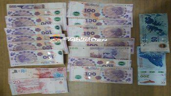 La Policía neuquina recuperó el dinero robado.
