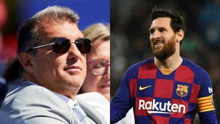 Laporta y la condición para que Messi se quede en Barcelona