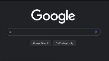 google activo el modo oscuro para el buscador web