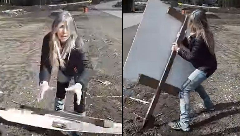 ¿Campaña ilegal? Una vecina se enojó, tiró carteles de candidatos y se hizo viral