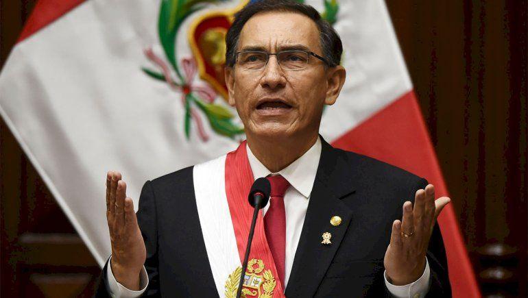 El Congreso peruano destituyó al presidente, Martín Vizcarra