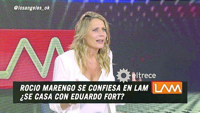 Rocío Marengo se desentendió de la acusación de Cinthia.