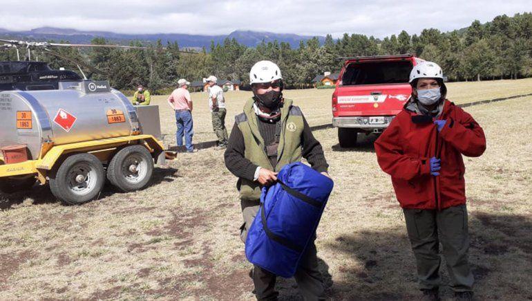 Los rescatistas actuaron este jueves por la tarde en una de las laderas del volcán Lanín