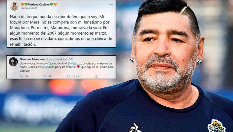 Maradona le salvó la vida en una clínica de rehabilitación