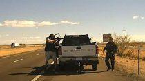 ee.uu: el momento en el que un narco acribillo a un policia