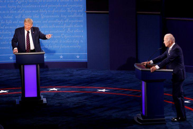 Foto del martes del presidente Donald Trump y el candidato demócrata Joe Biden en el primer debate de cara a las elecciones de noviembre