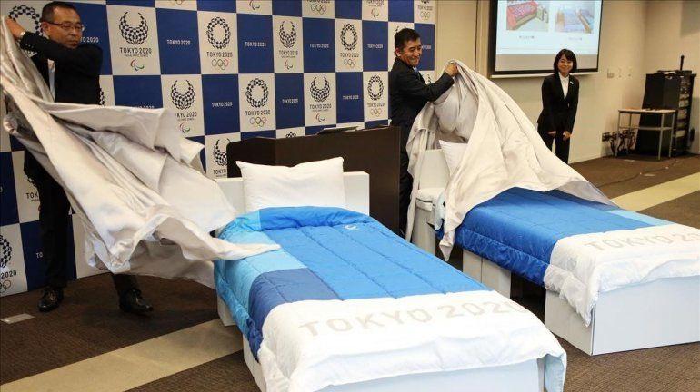 Estas son las camas anti sexo que colocaron en la Villa Olímpica