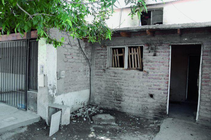 Así quedó la casa del adolescente y su familia en el barrio San Lorenzo.