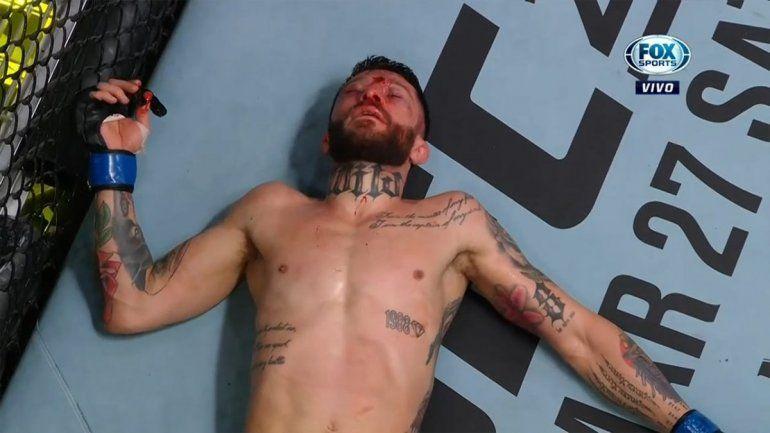 En su debut en la UFC, al Pitbull Rojo lo noquearon y le dejaron la cara desfigurada
