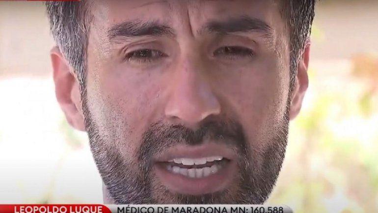 Luque asegura que hizo todo lo posible por cuidar a Diego, pero que era un paciente difícil.