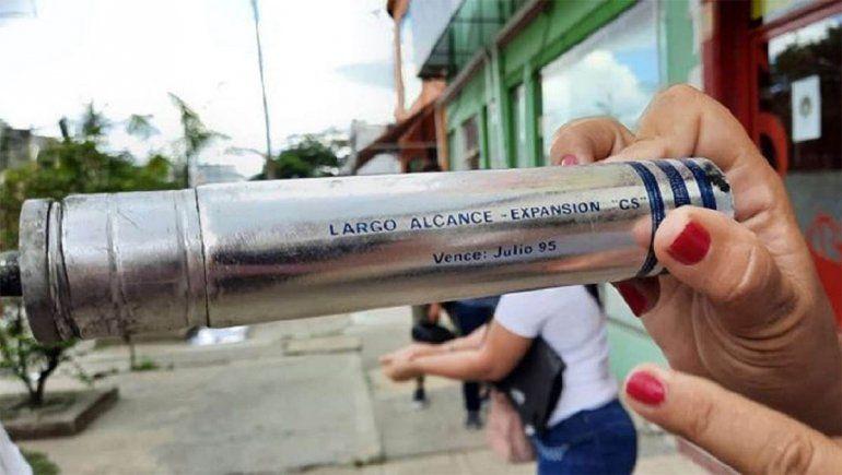 Formosa: la policía tiró gas lacrimógeno vencido, una sustancia altamente tóxica
