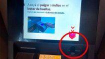 chau tarjeta de debito: los cajeros automaticos funcionaran con la huella digital