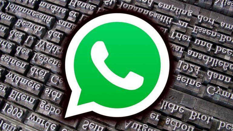 Truco para cambiar el tipo de letra en tus chats de WhatsApp.