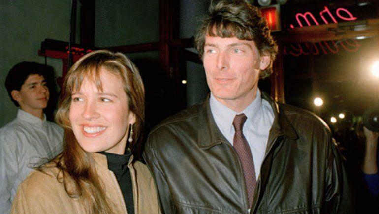 Reeve y Dana, el actor ya era una celebridad tras interpretar al superhéroe.