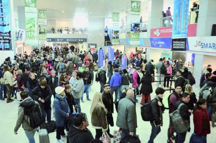 La cantidad de pasajeros del aeropuerto crece de forma exponencial.