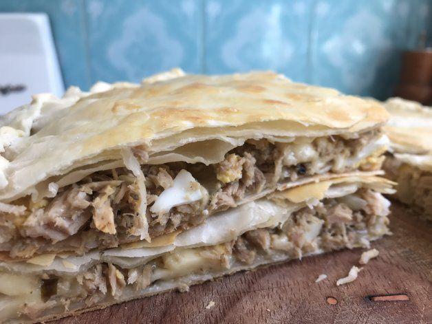 Receta: tarta de Atún y reggianito ideal para estos días