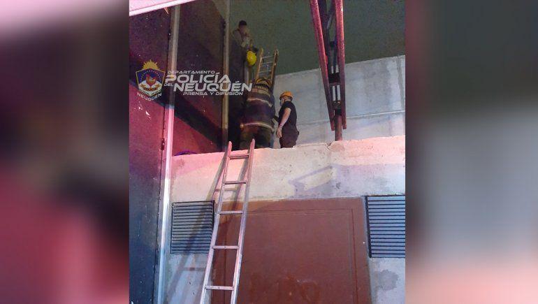 Intentó fugarse de un hogar por los techos, se asustó por la altura y tuvo que ser rescatado