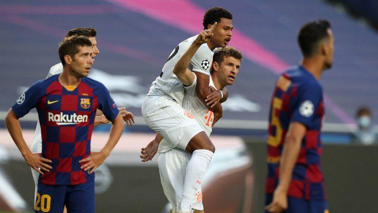 El Bayern Múnich goleó por 8-2 al Barcelona en su último cruce por Champions League.