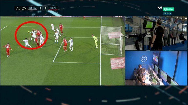 Increíble pero Real: era penal para el Madrid y pasó a ser para el Sevilla