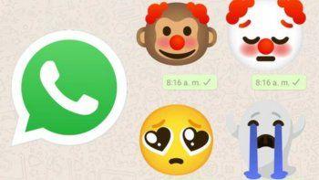 Ya podés enviar emojis gigantes en WhatsApp al estilo Messenger.
