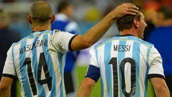 Esta es la fotografía que publicó Mascherano junto a Messi