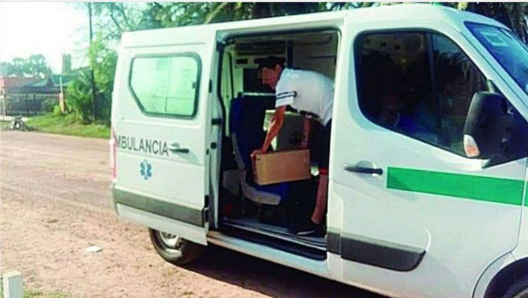 Hijo de un intendente llenó una ambulancia con fernet
