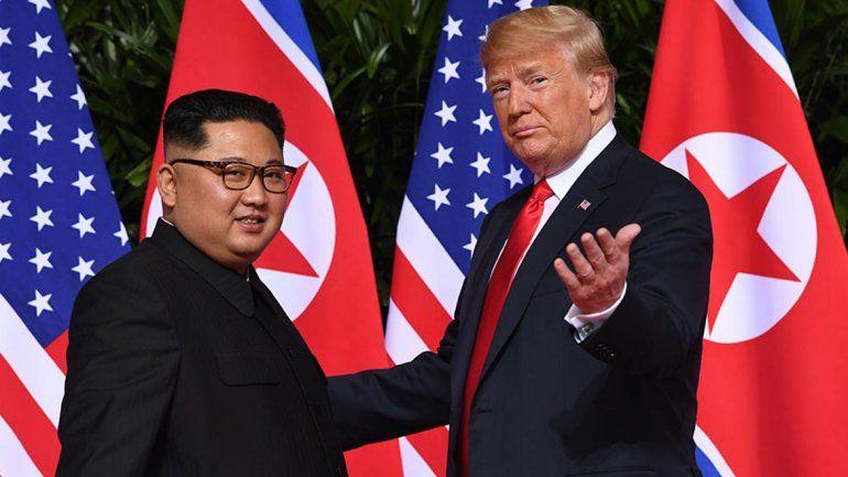 El presidente de EE.UU. y el líder de Corea del Norte